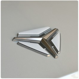 TufSkinz Colored Triangular Peel & Stick Hood Emblem Inserts for the Polaris Slingshot (3 Piece Kit)