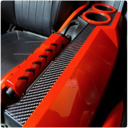 TufSkinz Peel & Stick Colored Accent Center Console Cover for the Polaris Slingshot