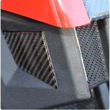 TufSkinz Peel & Stick Carbon Fiber Rear Center Filler Kit for the Polaris Slingshot (3 Pieces)