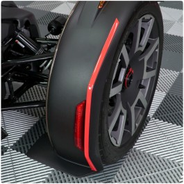 Tufskinz Peel & Stick Outside Front Fender Accent Strips for the Can-Am Ryker