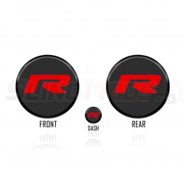 Tufskinz Peel & Stick R Series Emblem Set for the Can-Am Ryker (3 Piece Set)