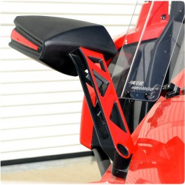 TufSkinz Peel & Stick Side View Mirror Upper Arm Trim for the Polaris Slingshot (Pair)