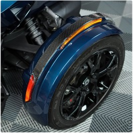 Tufskinz Peel & Stick Top Side Front Fender Accent Strips for the Can-Am Spyder RT (2 Piece Kit) (2020+)