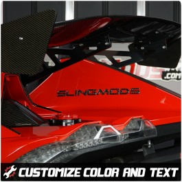 Tufskinz Peel & Stick Personalized Rear Tail Fin Lettering for the Polaris Slingshot (Set of 2)