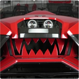Tufskinz Colored Front Teeth Grille for the Polaris Slingshot