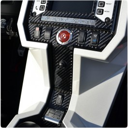 TufSkinz Peel & Stick Colored Accent Center Switch Panel Trim for the Polaris Slingshot (2015-17)