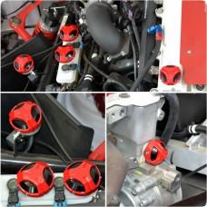 Twist Dynamics Billet Aluminum 6-Piece Engine Cap Set for the Polaris Slingshot