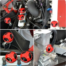 Twist Dynamics Billet Aluminum 6-Piece Engine Cap Set for the Polaris Slingshot