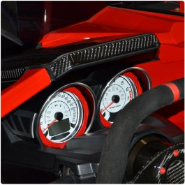 CLOSEOUT - Twist Dynamics Aluminum Instrument Gauge Bezels for the Polaris Slingshot (Pair) (2015-19)