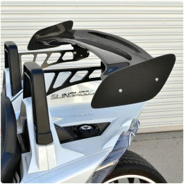 "Twist Dynamics Carbon Fiber 56"" Rear Wing / Spoiler for the Polaris Slingshot"