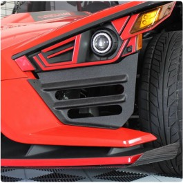 UAS Front End Fiberglass Side Gap Filler Grilles for the Polaris Slingshot (Pair) (2015-19)