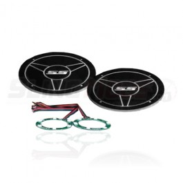 Acrylic RGB Illuminated SS Backing Plates for use with UnderGround Headrest Speaker Pods (Set of 2)