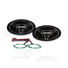 Acrylic RGB Illuminated SS Backing Plates for use with UnderGround Headrest Speaker Pods (Set of 2)