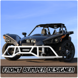 VooDoo Fab Aluminum Front Bumper and Grille for the Polaris Slingshot