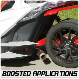 """Welter Turbo / Supercharged Compatible """"Sidekick"""" Series Rear Side Exhaust System for the Polaris Slingshot"""