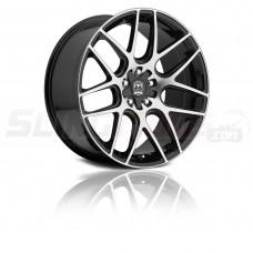 """Motiv Magellan Silver / Matte Black 18"""" / 20"""" Wheel Set for the Polaris Slingshot"""