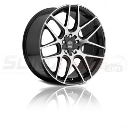 "Motiv Magellan Silver / Matte Black 18"" / 20"" Wheel Set for the Polaris Slingshot"