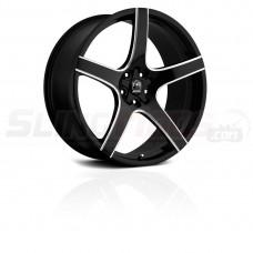 """Motiv Maranello Gloss Black 18"""" / 20"""" Wheel Set for the Polaris Slingshot"""