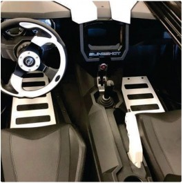 ZSW SS Floor Boards / Steel Mats for the Polaris Slingshot
