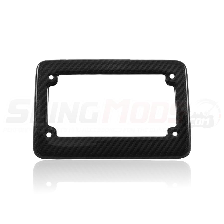 carbon fiber license plate frame for the polaris slingshot - White License Plate Frame