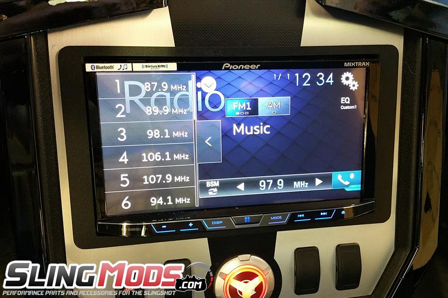 Polaris Slingshot Double Din Stereo Dash Mounting Kit