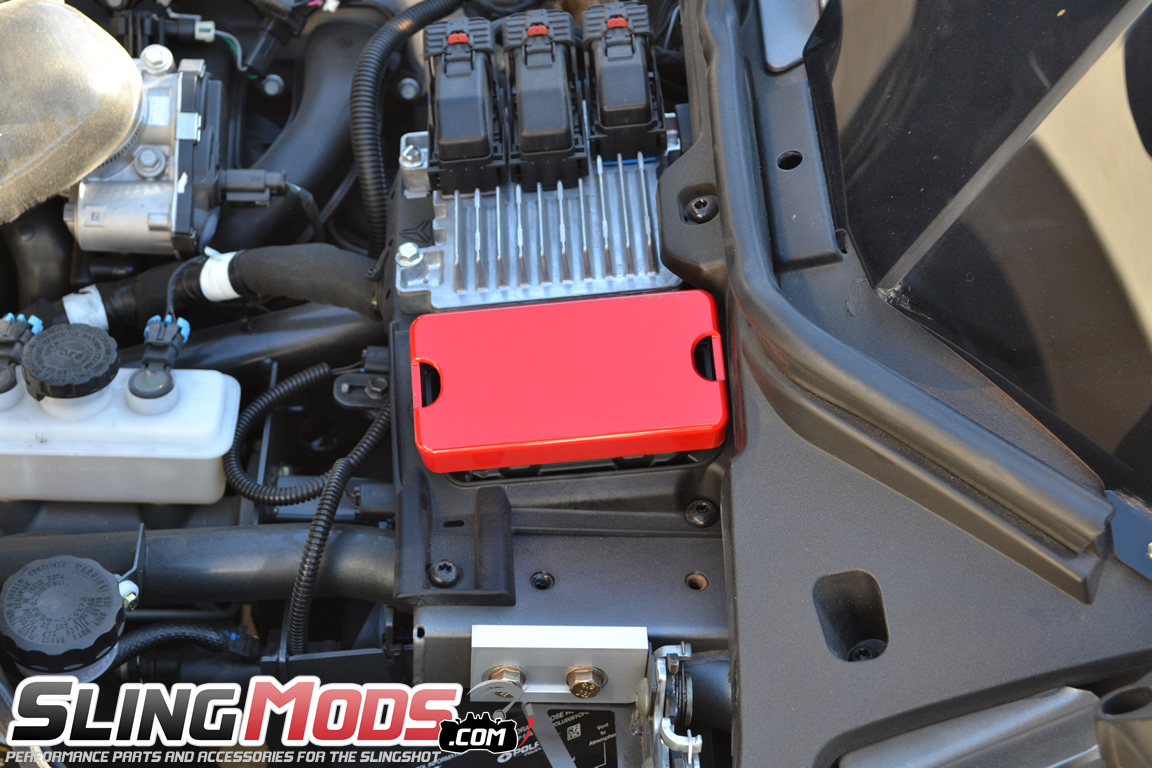 Billet Aluminum Fuse Box Cover For The Polaris Slingshot Atc
