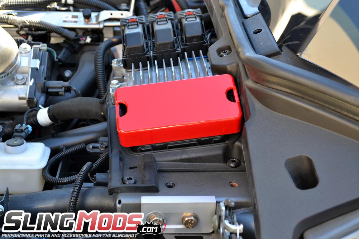 polaris slingshot billet aluminum fuse box cover all things chrome 3 billet aluminum fuse box cover for the polaris slingshot  at bayanpartner.co