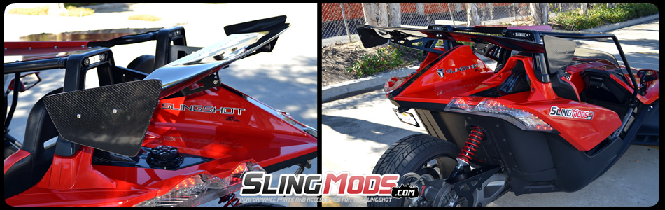 Polaris Slingshot Carbon Fiber Rear Spoiler Wing By