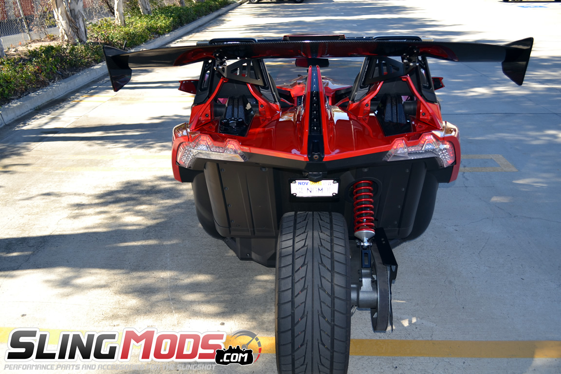 Polaris Slingshot Carbon Fiber Rear Spoiler Wing By