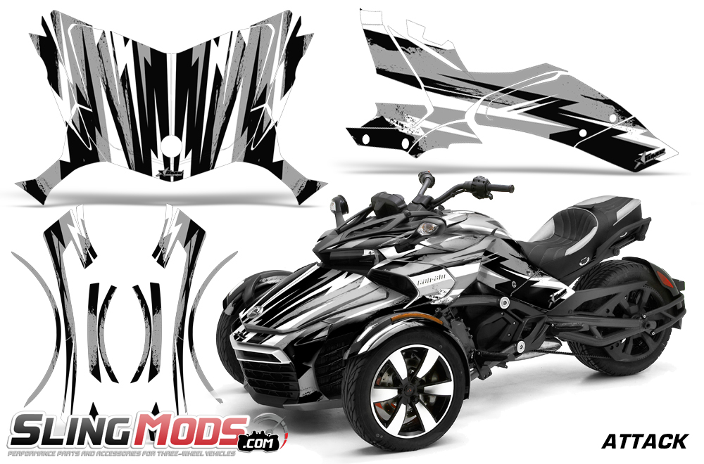 Can Am Spyder For Sale >> Can-Am Spyder F3 Vinyl Decal Graphics Kit by AMR Racing