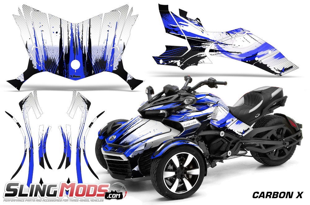 Can Am Spyder F3 Vinyl Decal Graphics Kit By Amr Racing