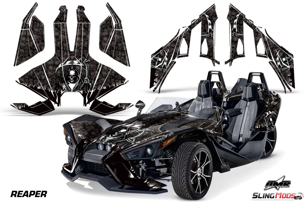 Polaris Slingshot AMR Full Graphics Kit - Decal graphics for motorcyclesmotorcycle gas tank customizable stripes graphics decal kits