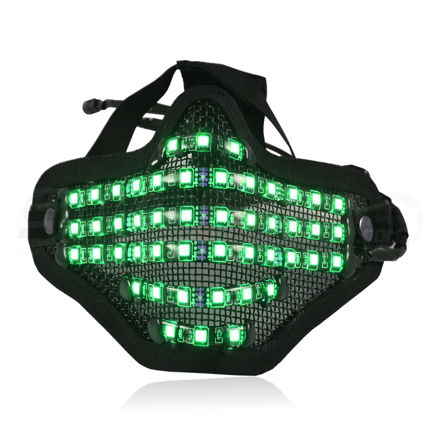 Bionic Led Face Mask With Adjustable Multi Color Led By