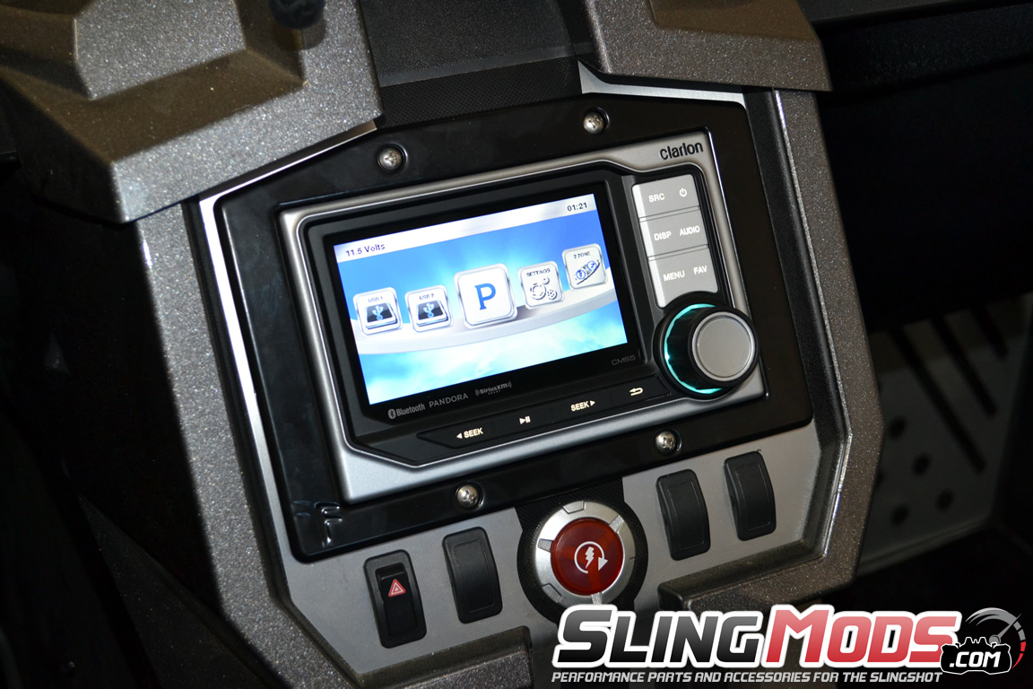 clarion cms5 installed polaris slingshot clarion cms5 mounting plate for the polaris slingshot clarion cms5 wiring diagram at mifinder.co