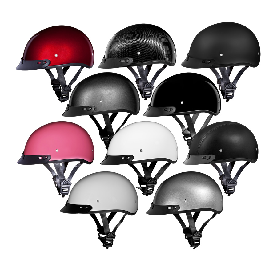 f24b5801e82 Daytona Helmets 1 2 Shell Skull Cap Beanie Helmet with Sun Visor - DOT  Approved