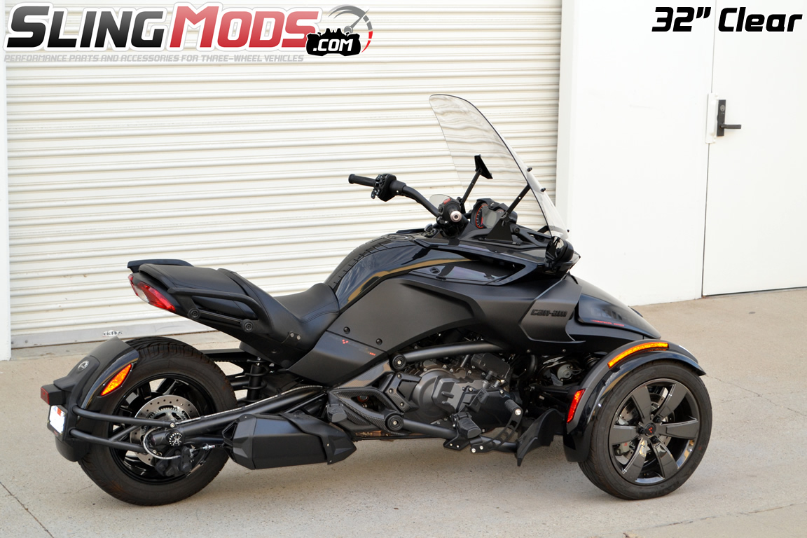 F4 Customs Adjule Windshield For The Can Am Spyder F3 F3s