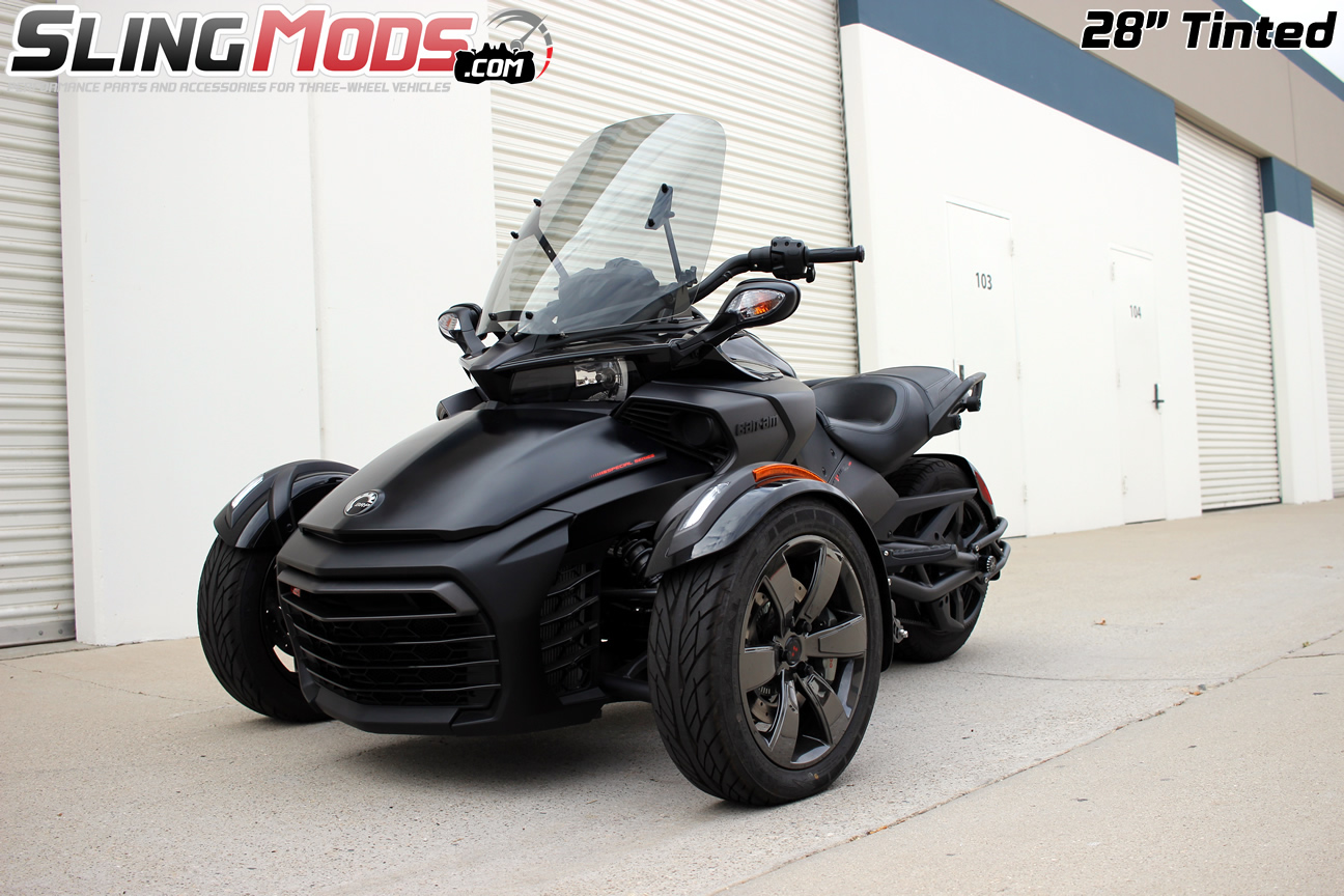 can am spyder f3 f3s tinted clear windshields. Black Bedroom Furniture Sets. Home Design Ideas