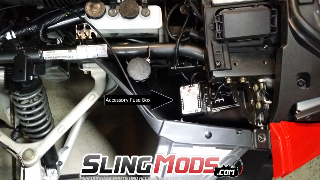 polaris slingshot fuse block wiring harness 1 posi tap to connect the ignition 12v power to the cigarette lighter in the glove box