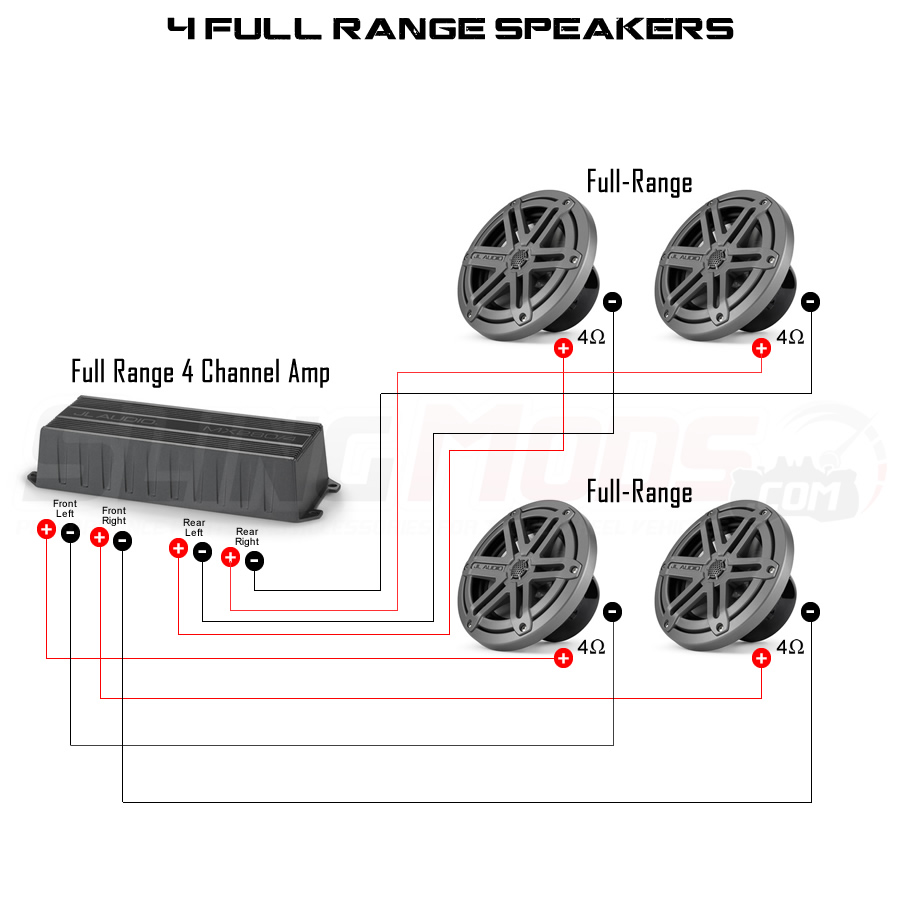 4 channel lifier speaker wiring diagram 4 switch diagram