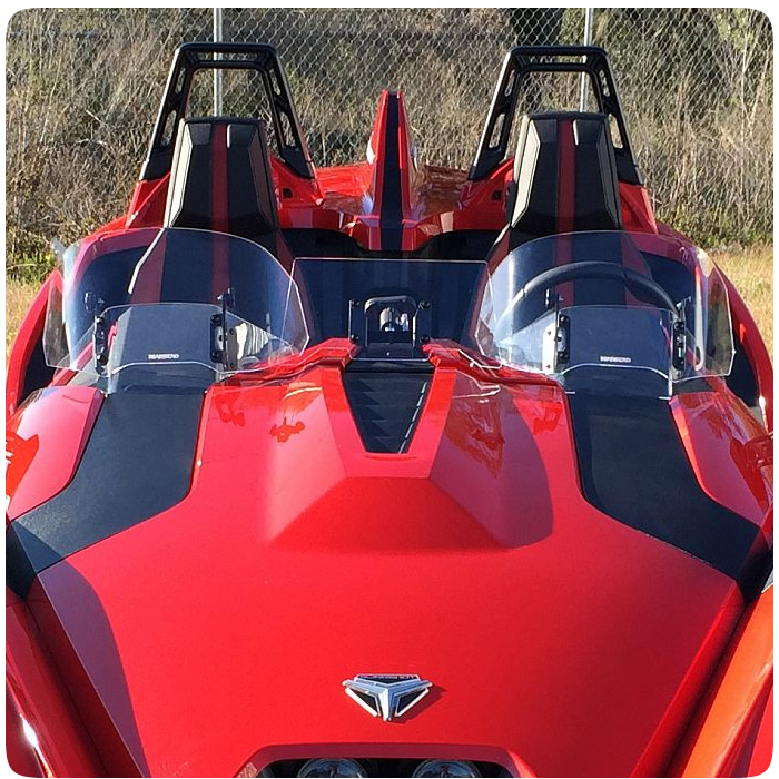 Polaris Slingshot Double Bubble Adjustable Windshield By