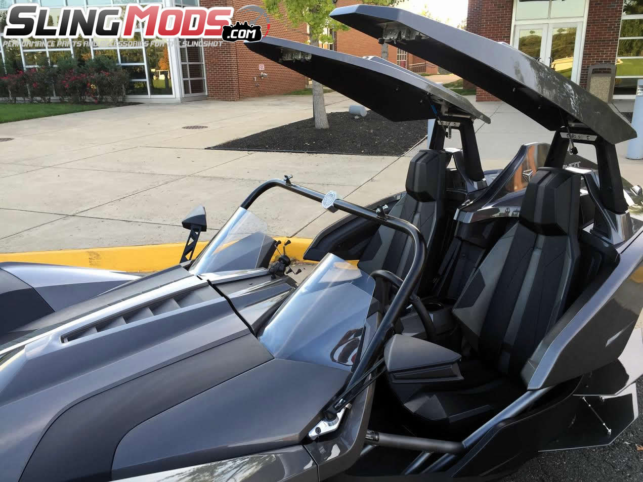 polaris slingshot twin canopy roof top system by metricks autos post. Black Bedroom Furniture Sets. Home Design Ideas