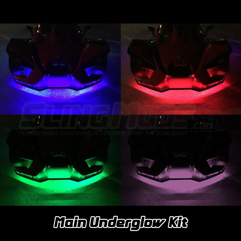 Polaris slingshot rgb underglow led light kit with remote - Underglow neon ...