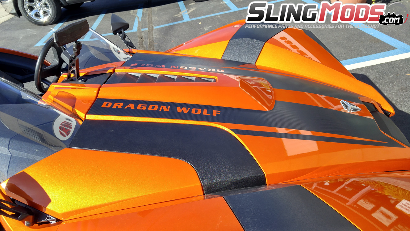 Polaris Slingshot Precut Vinyl Hood Graphics With Customizable - Custom vinyl car hood decals