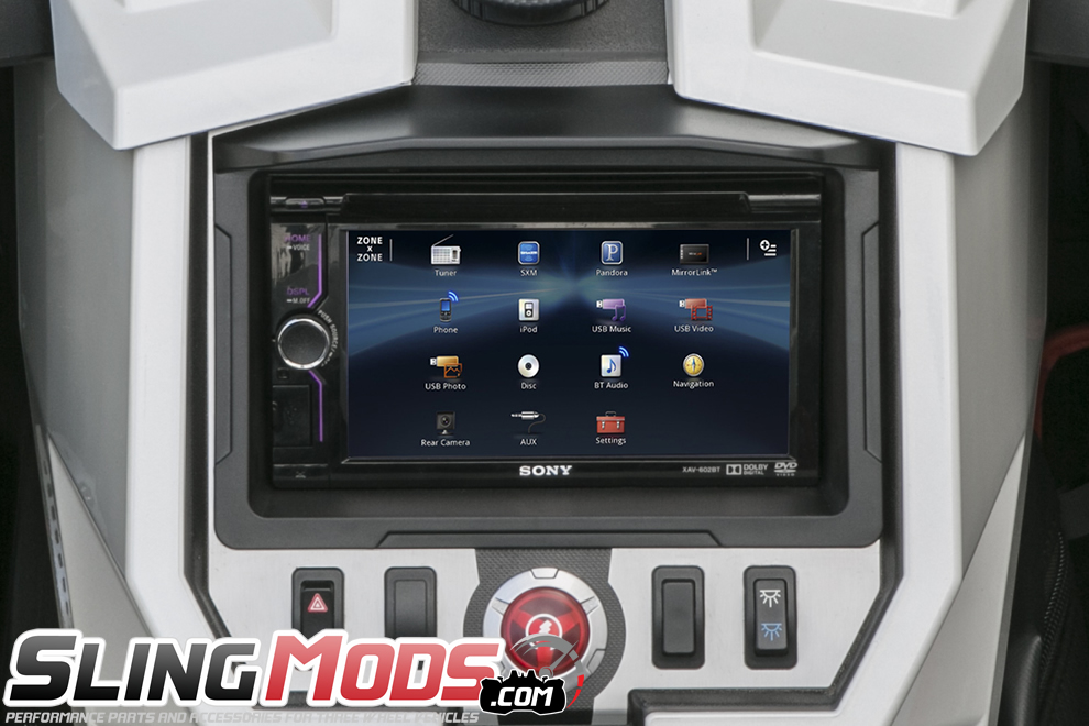 Polaris Slingshot Double Din Stereo Dash Mounting Kit By Scosche