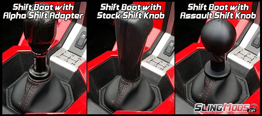 Status Racing Marine Vinyl Shift Boot for the Polaris Slingshot