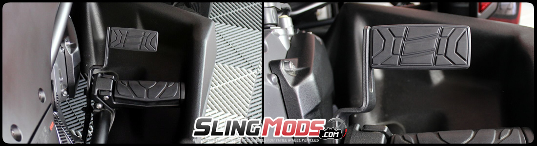 F3 by Show Chrome Full Size Brake Pedal for Can-Am Spyder RS RT 41-179 ST