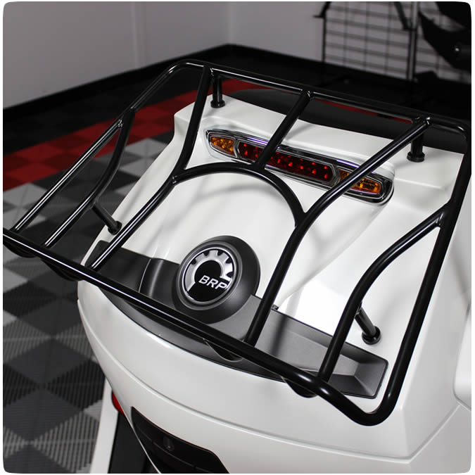 Show Chrome Accessories 41-155BK Satin Black Trunk Rack Can Am Spyder RT