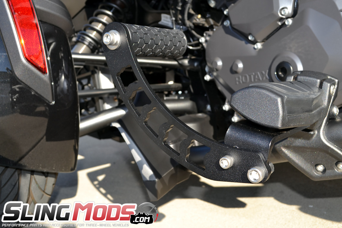 spyderextras foot rest extensions highway pegs for the can am spyder f3 pair