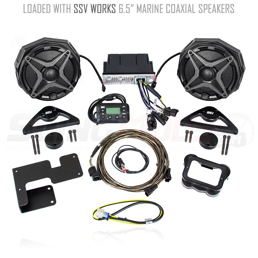 Can Am Spyder F3 F3s Bluetooth Audio System Kit By Ssv Works