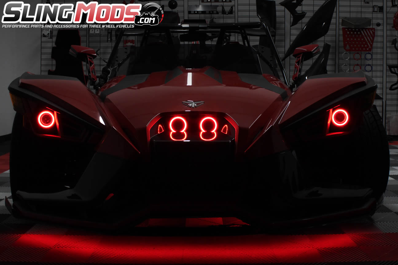 Polaris Slingshot Led Chaser Halo Rings With Remote Control The Leds In This Circuit Produce A Chasing Pattern Tricled Magic Tric For